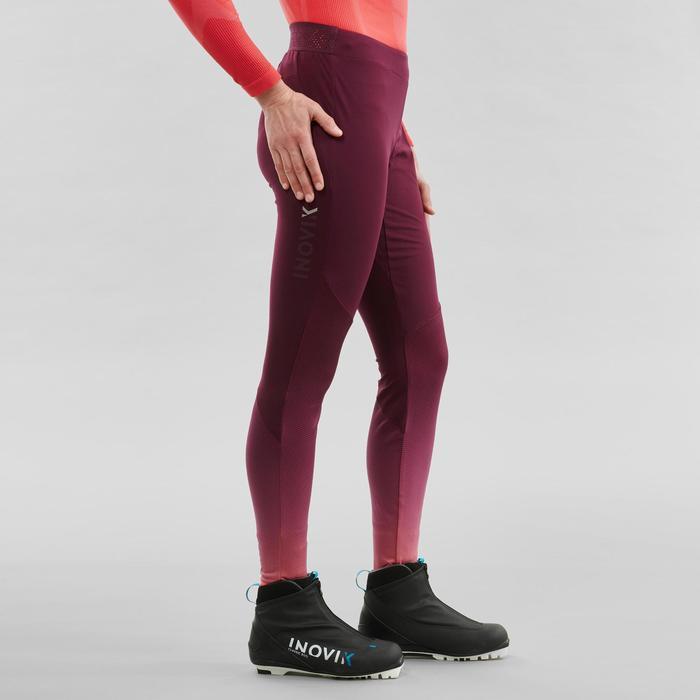 Mallas largas de esquí de fondo mujer XC S TIGHT 500 violeta