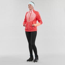 Collant chaud de ski de fond noir XC S TIGHT 100 femme