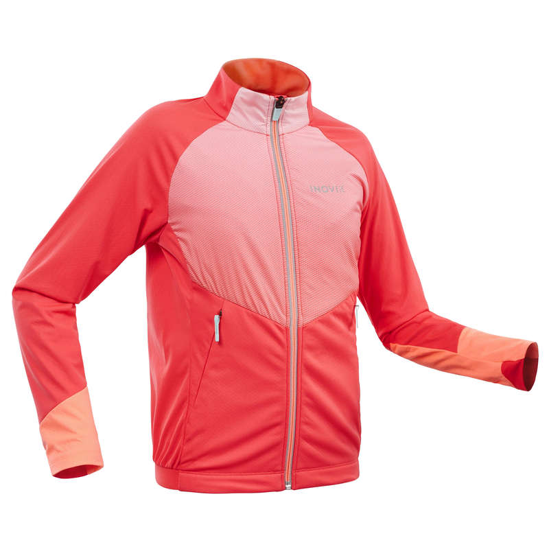 JUNIOR CROSS COUNTRY SKI CLOTHING Cross-Country Skiing - Girls' Jacket XC S 550 - Pink INOVIK - Cross-Country Skiing