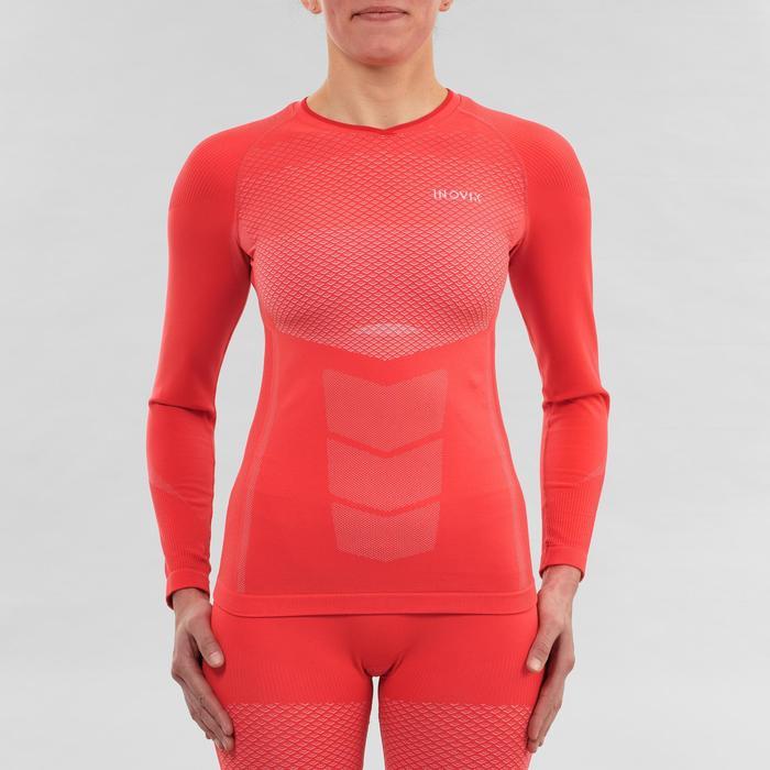 Haut de sous-vêtement technique de ski de fond rose - XC S UW 500 femme