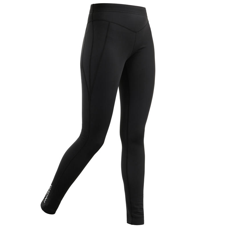 Collant chaud de ski de fond noir XC S TIGHT 100 femme