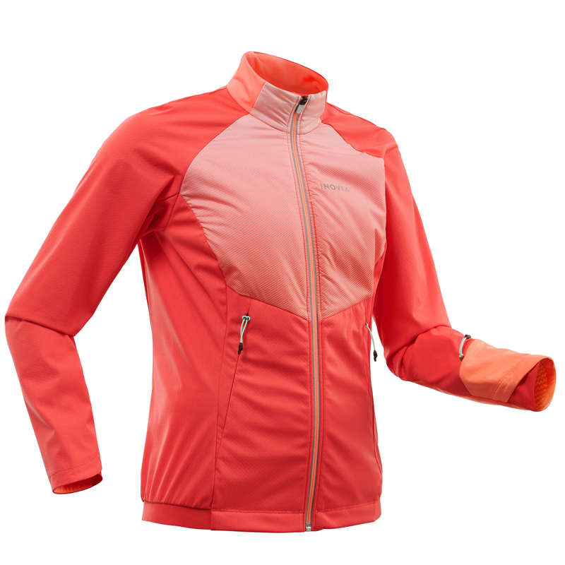 ADULT CROSS COUNTRY CLOTHING Cross-Country Skiing - Women's Jacket XC S 550 - Pink INOVIK - Cross-Country Skiing
