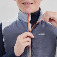 Gilet de ski de fond bleu XC S VEST 500 ENFANT