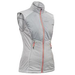 Chaleco de esquí de fondo mujer XC S VEST 500 gris