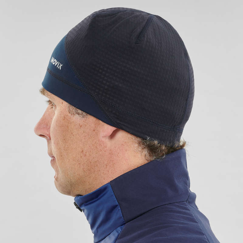 ADULT CROSS COUNTRY CLOTHING Cross-Country Skiing - XC S Beanie 500 - Blue INOVIK - Cross-Country Skiing