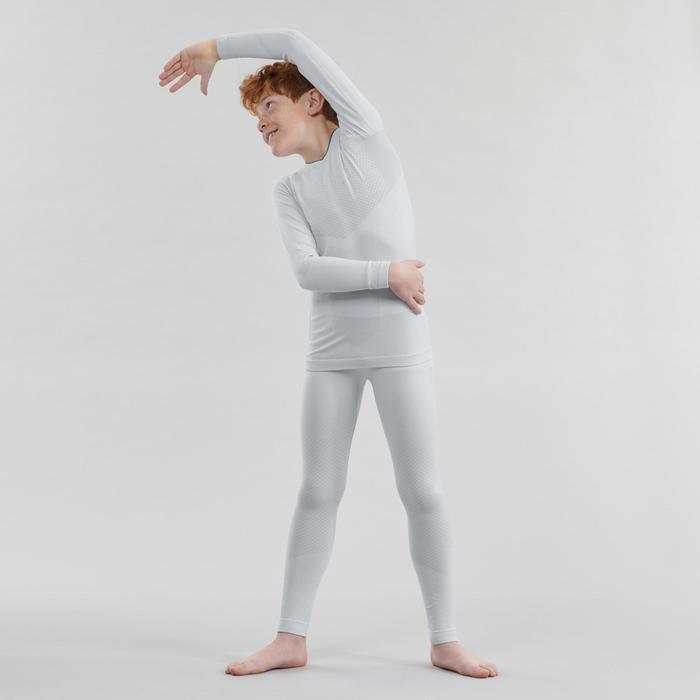 Camiseta térmica de esquí de fondo gris XC S UW 500 JÚNIOR