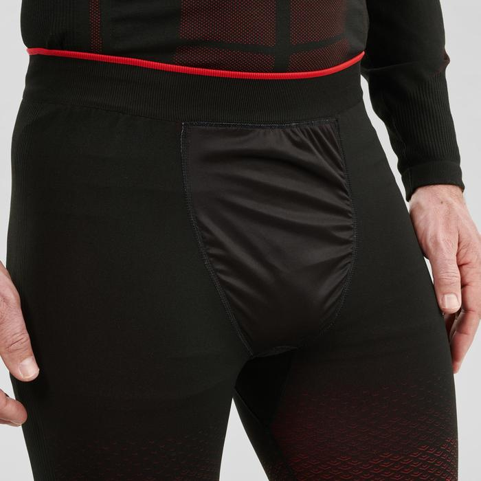 Bas de sous-vêtement technique de ski de fond noir XC S UW 500 homme