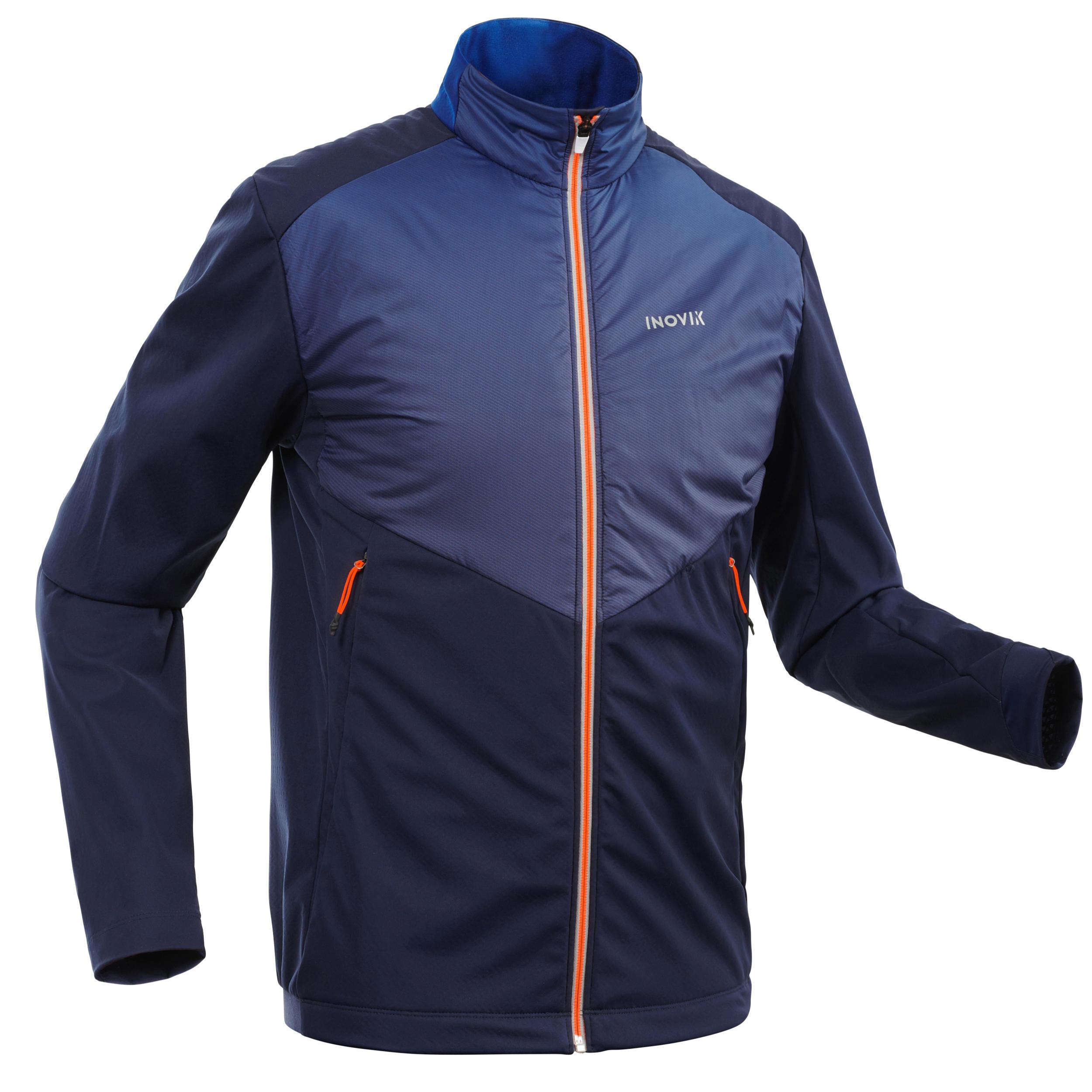 Veste de ski de fond bleu xc s jacket 550 homme inovik