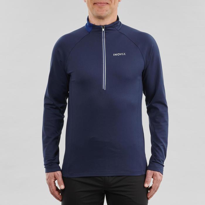 Warm langlaufshirt voor heren met lange mouwen XC S TS 100 blauw