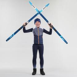 Chaleco de esquí de fondo JÚNIOR XC S VEST 500 azul
