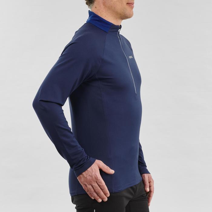 Langlaufshirt langarm warm XC S 100 Herren blau