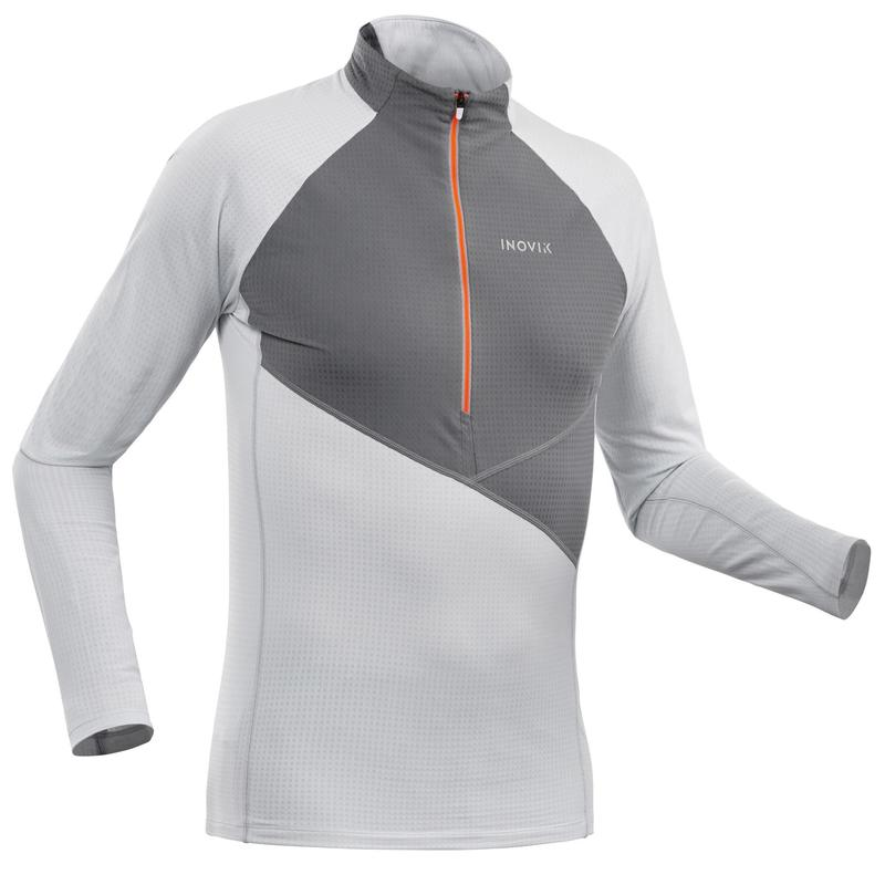 T-shirt ski de fond manches longues léger 1/2 zip Homme XC S LIGHT 500 - Blanc