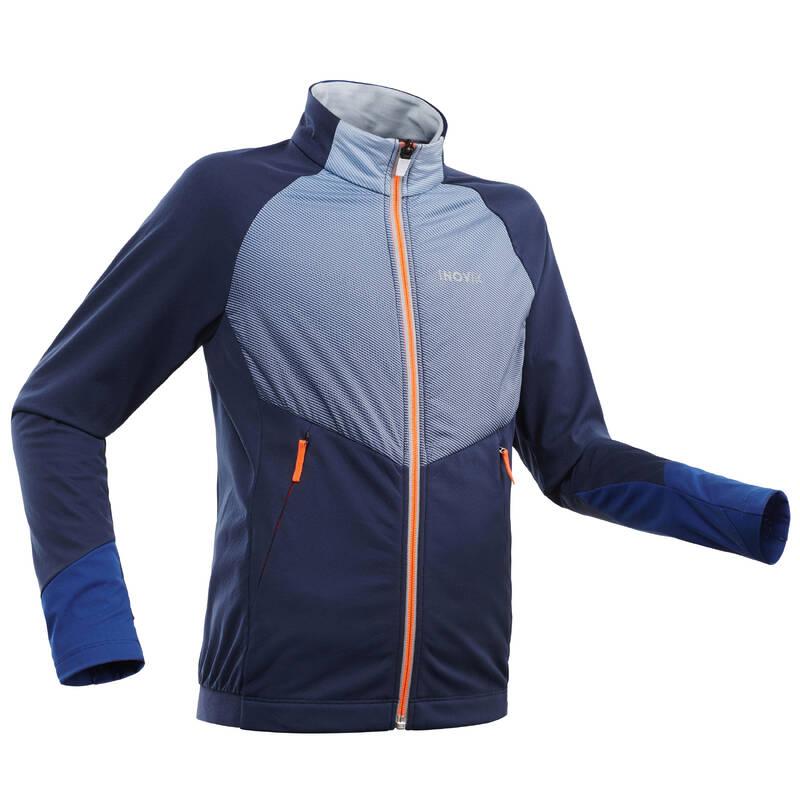 DĚTSKÉ BĚŽECKÉ LYŽE Běžecké lyžování - BĚŽKAŘSKÁ BUNDA 550 MODRÁ  INOVIK - Oblečení na běžky