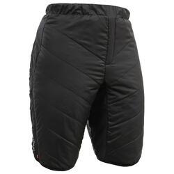 Pantalón corto cálido de esquí de fondo hombre XC S SHORT 500 negro