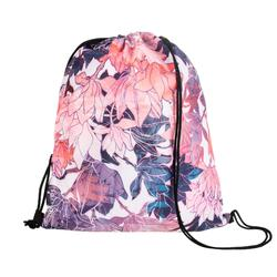 Fold-Down Fitness Shoe Bag - Floral
