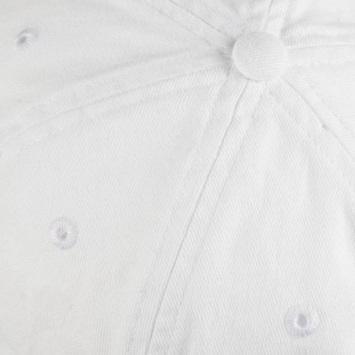 Gorra plana Cardio Fitness Domyos adultos blanco