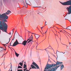 Schuhtasche Fitness faltbar Blumenprint