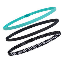 Cardio Fitness Training Hair Ties x 3 - Turquoise/Grey
