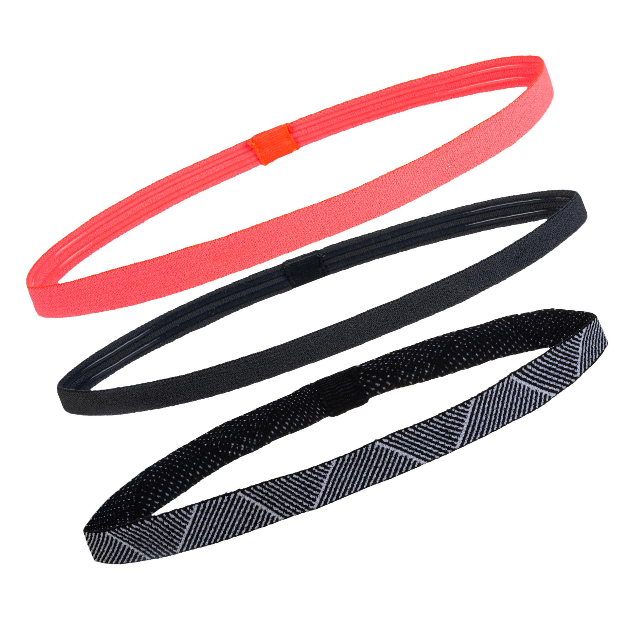 styles frais officiel de vente chaude 100% de qualité Bandeau élastique (lot de 3) fitness cardio-training femme rose et noir