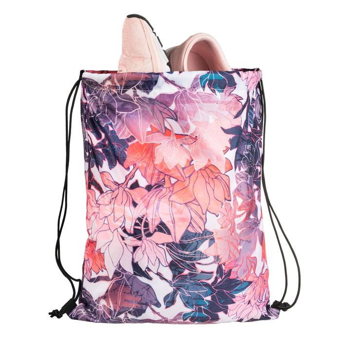 Mochila de cuerdas calzado Cardio Fitness Domyos rosa flores