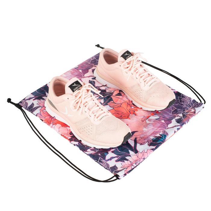 折疊式健身鞋袋-植物印花款