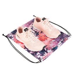 Opvouwbare schoenenzak fitness bloemenprint