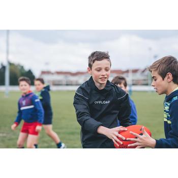 Wind-regenjack rugby Smock top 500 kinderen zwart