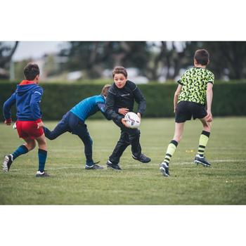 Rugby-Smockpant R500 wasserdicht Kinder schwarz