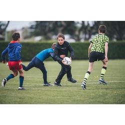 Wind- en waterdichte rugbybroek voor kinderen R500 zwart