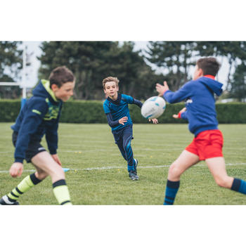 Collant de rugby R500 junior bleu