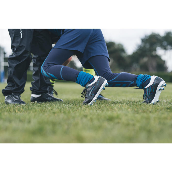 Rugby-Tights R500 Kinder blau