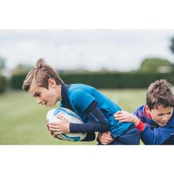 Sous maillot manches longues de rugby R500 enfant bleu
