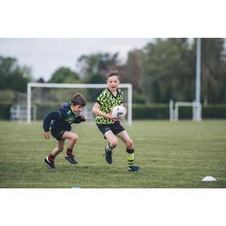 Maillot de rugby R100 enfant jaune noir