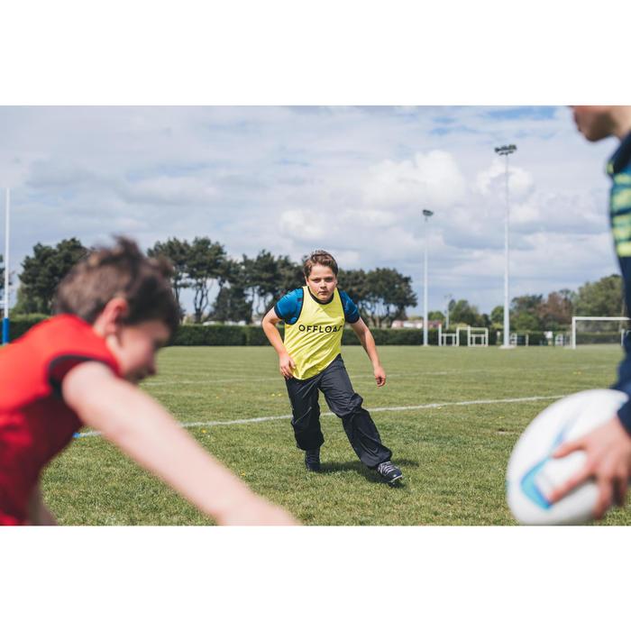 Peto de Rugby Reversible Offload R500 adulto amarillo y verde