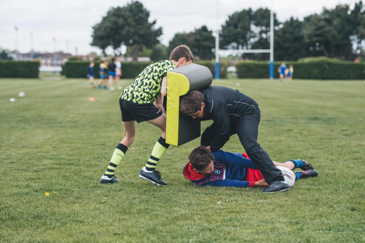 Le ruck constitue l'une des phases de jeu les plus disputées lors d'un match