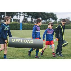 Chaussettes hautes de rugby enfant R500 rouge