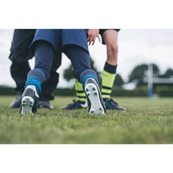 Rugbyschuhe Agility R500 FG Kinder schwarz/blau
