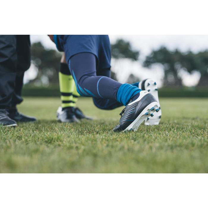 Rugbyschoenen voor kinderen Agility R500 FG vaste noppen blauw