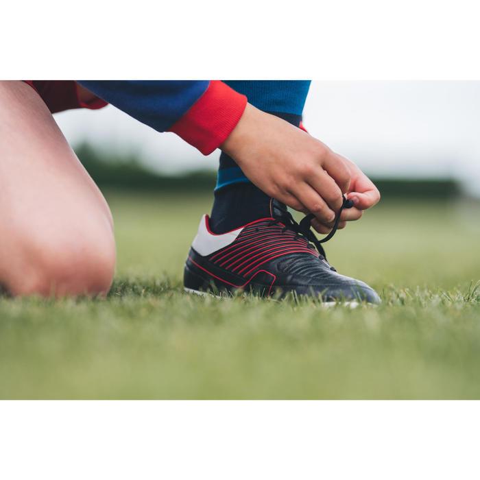 Rugbyschuhe Agility R500 FG Kinder rot