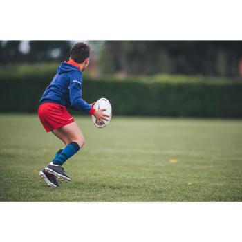 Balón de rugby R500 talla 4 azul rojo
