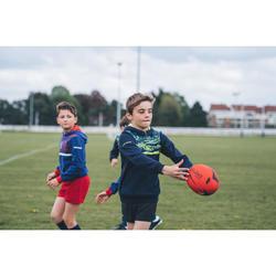 Rugbyhoodie voor kinderen R100 blauw