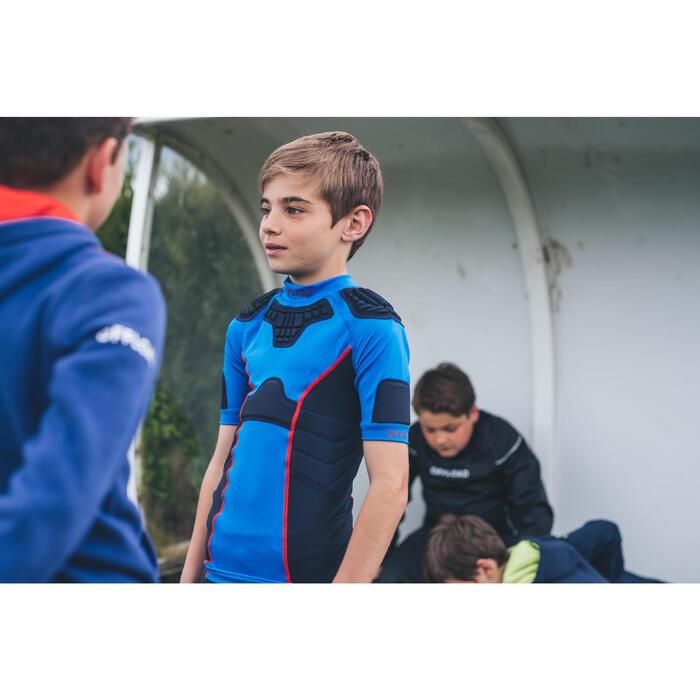 Hombreras Rugby Offload R500 niños azul