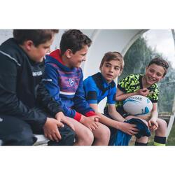 Rugby-Schulterschutz R500 Kinder blau