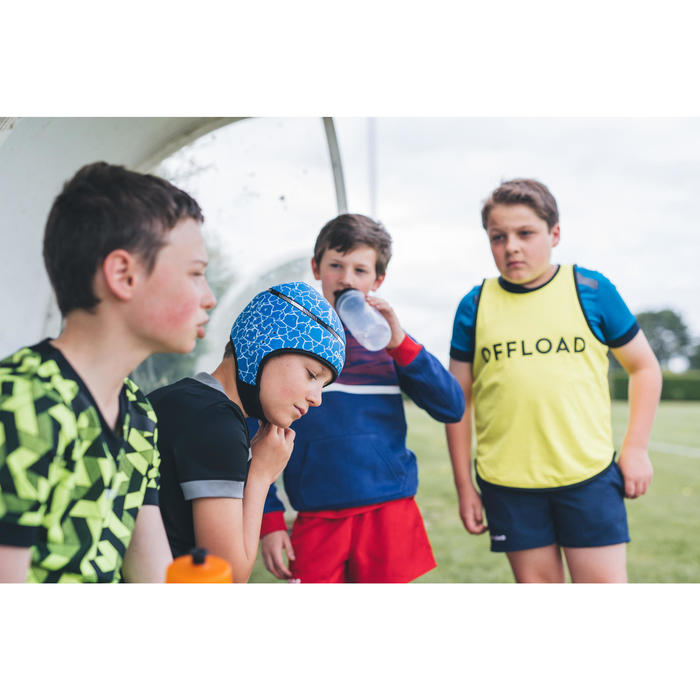 Casco Rugby Offload R100 niños azul tortuga