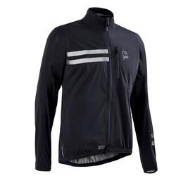 Chaqueta impermeable de ciclismo RC500 negro