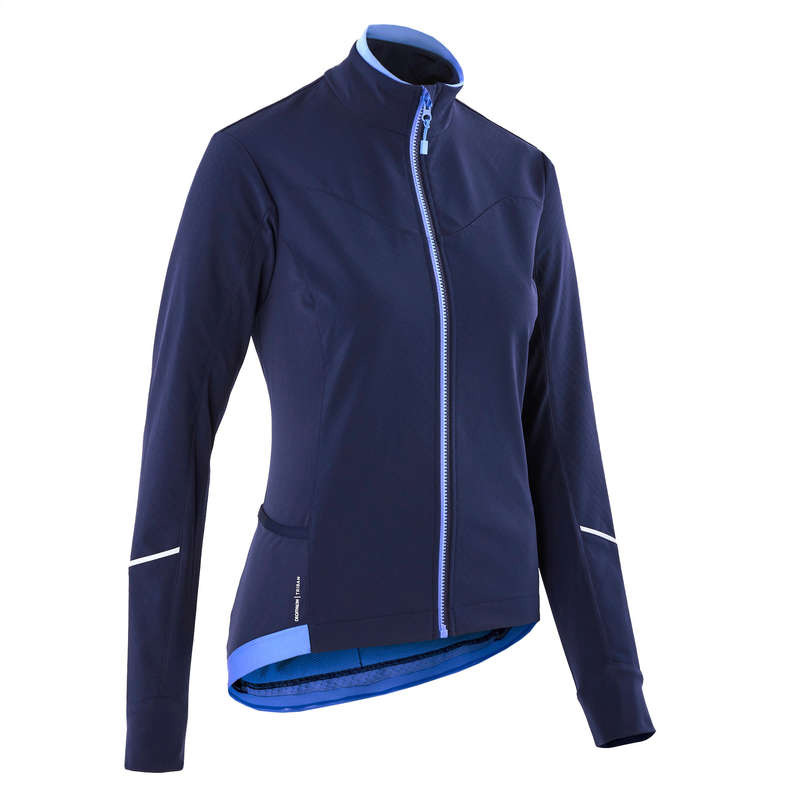 WOMEN COLD WEATHER ROAD APPAREL Clothing - 500 Women's Cycling Jacket TRIBAN - By Sport