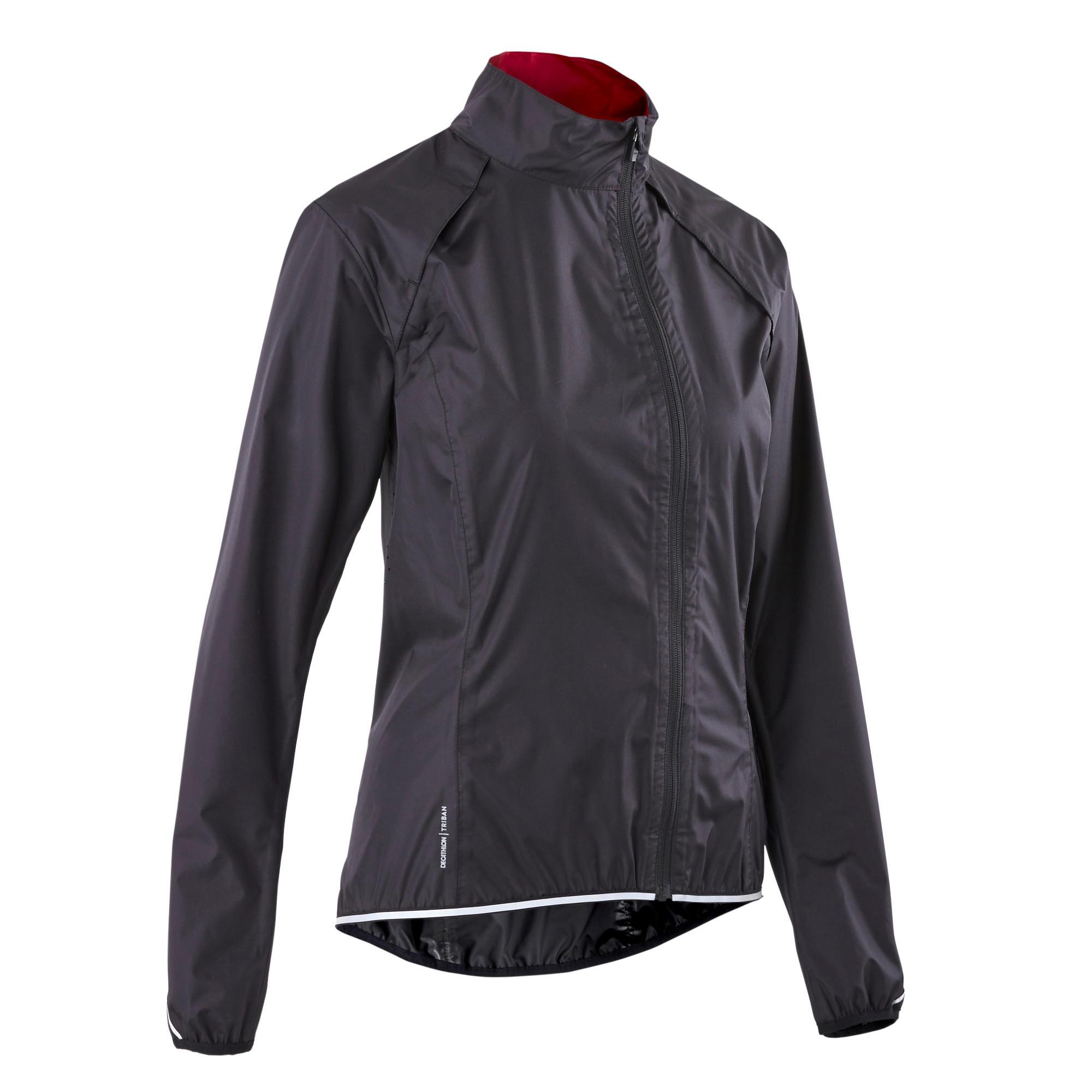 Jachetă Ploaie 500 Negru