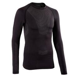 自行車運動長袖訓練底層衣 - 黑色