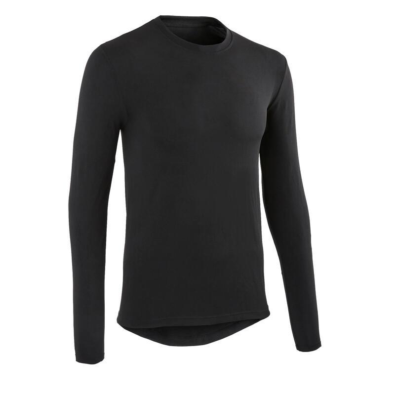 Fietsondershirt met lange mouwen 100 zwart
