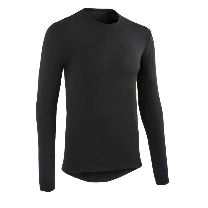 MEN COLD WEATHER ROAD BASELAYER Cycling - RC 100 Long Sleeve Cycling Base Layer - Black VAN RYSEL - Cycling